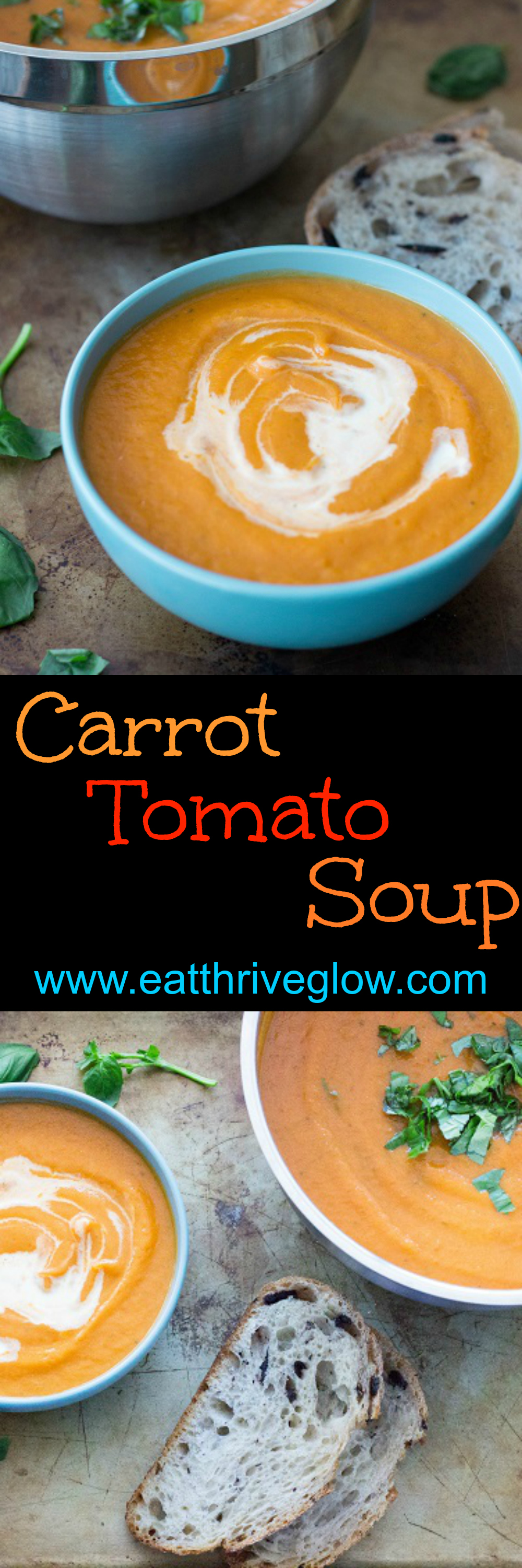 Carrot Tomato Soup - Eat Thrive Glow