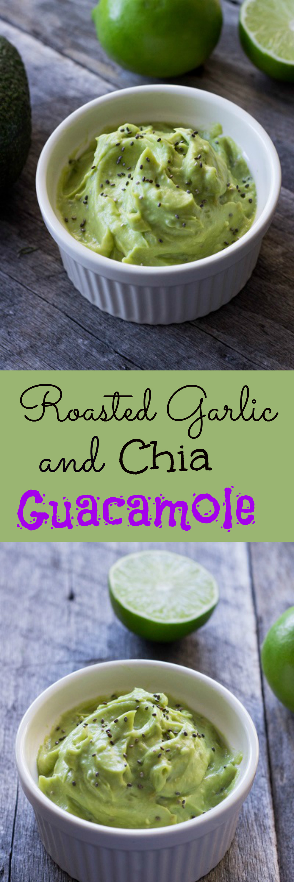 Roasted Garlic and Chia Guacamole - Eat Thrive Glow