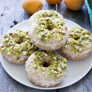 Baked Vanilla Donuts with Apricot Pistachio Glaze - Eat Thrive Glow