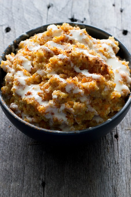 Carrot Cake Couscous Breakfast Porridge - Eat Thrive Glow