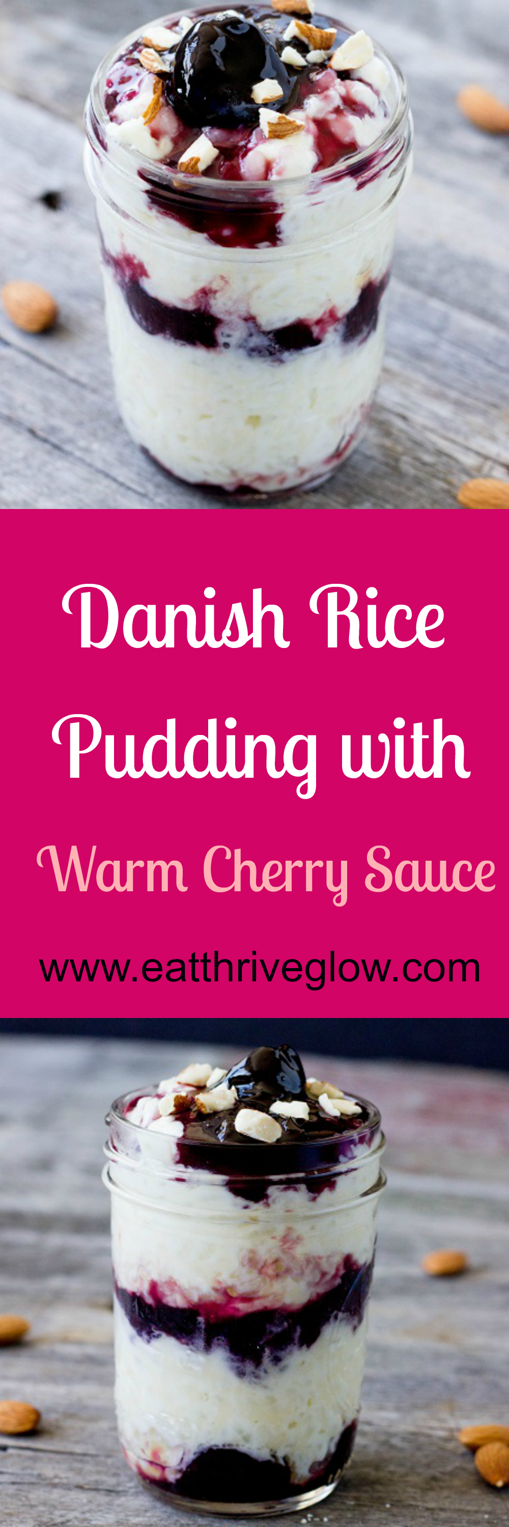 Danish Rice Pudding with Warm Cherry Sauce - Eat Thrive Glow