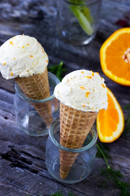 Fennel Orange Ice Cream - Eat Thrive Glow