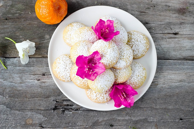 Vanilla Tangerine Sugar Cookies - Eat Thrive Glow