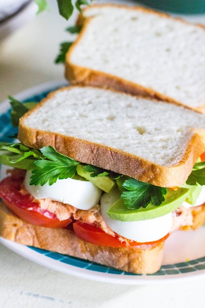 Protein-Packed Avocado Tuna Egg Salmon Salad Sandwiches - Eat Thrive Glow